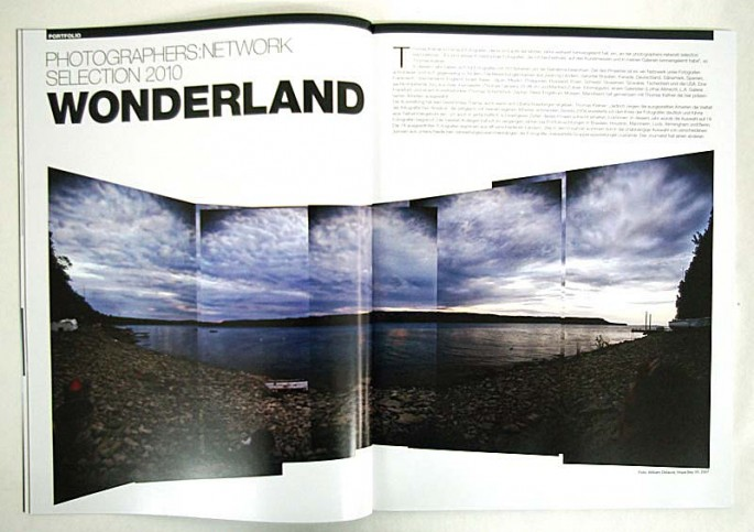 Photographers Network 2010 selection Profifoto magazine opening full page spread of Hope Bay VII, 2008 by William Oldacre