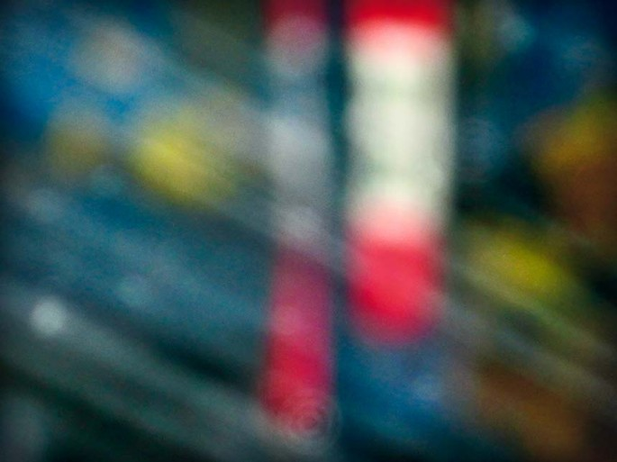 Coloured City series, blue, red, circles, rectangles, shapes abstract, abstract expressionism, colour photography, street scape, blur,