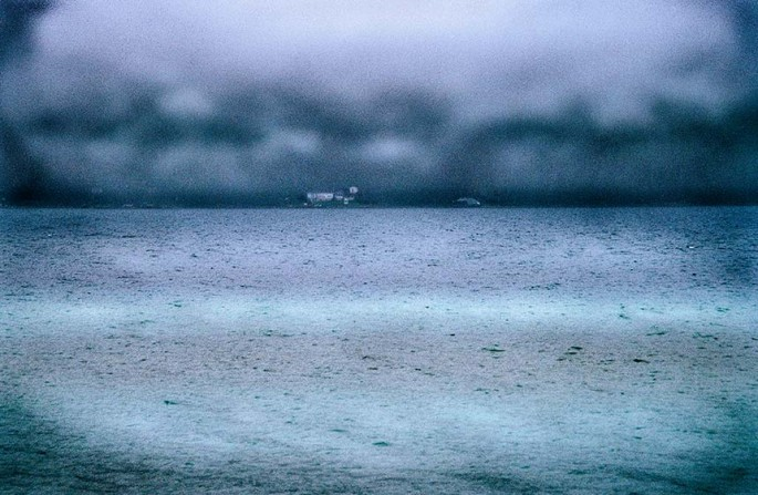 Hope Bay series, foggy, turquoise, water, colour photography, cloudy, stormy