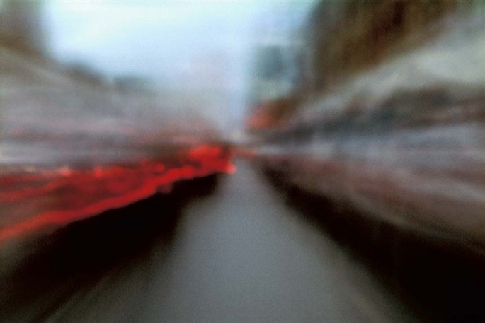 Metro Motion series, red, brown, muted, colourful lines, streaks, abstract, abstract expressionism, colour photography, city scape, motion, movement