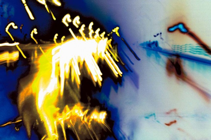 Metro Motion series, yellow, blue, vibrant, colourful lines, streaks, abstract, abstract expressionism, colour photography, city scape, motion, movement