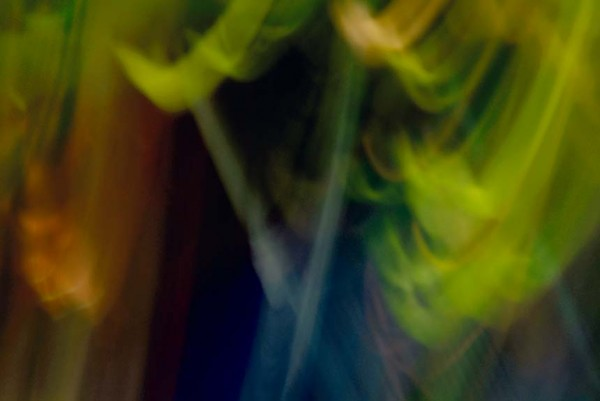 Light Signatures series, day, colour photograph, art, abstract, abstract expressionism, creative, city street, urban, downtown, cityscape, speed, blur, movement, motion, green, blue, vibrant, streaks, circles, patterns, shapes