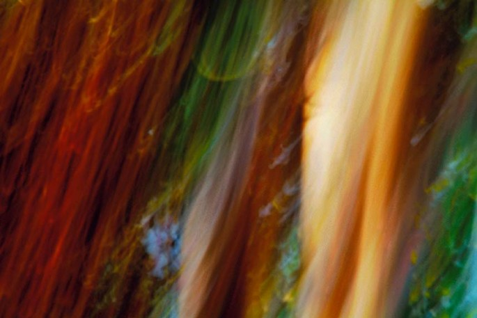 Light Signatures series, day, colour photograph, art, abstract, abstract expressionism, creative, city street, urban, downtown, cityscape, speed, blur, movement, motion, red, orange, vibrant, streaks, patterns