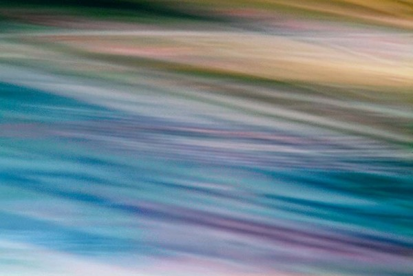 Light Signatures series, day, colour photograph, art, abstract, abstract expressionism, creative, city street, urban, downtown, cityscape, speed, blur, movement, motion, purple, blue, muted, streaks, patterns