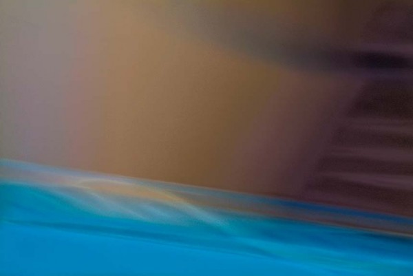 Light Signatures series, day, colour photograph, art, abstract, abstract expressionism, creative, city street, urban, downtown, cityscape, speed, blur, movement, motion, blue, brown, muted, waves, patterns