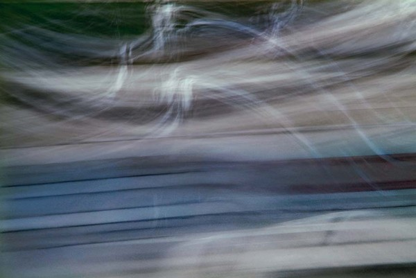 Light Signatures series, day, colour photograph, art, abstract, abstract expressionism, creative, city street, urban, downtown, cityscape, speed, blur, movement, motion, blue, muted, ghostly, streaks, overlapping, wind, patterns