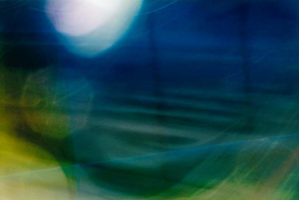 Light Signatures series, day, colour photograph, art, abstract, abstract expressionism, creative, city street, urban, downtown, cityscape, speed, blur, movement, motion, blue, green, muted,swoosh, circles, waves, pattern