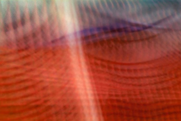 Light Signatures series, day, colour photograph, art, abstract, abstract expressionism, creative, city street, urban, downtown, cityscape, speed, blur, movement, motion, red, purple, muted, pulsing, waves, pattern