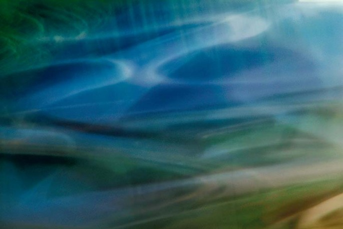 Light Signatures series, day, colour photograph, art, abstract, abstract expressionism, creative, city street, urban, downtown, cityscape, speed, blur, movement, motion, red, blue, green, muted, streaks, waves, swoosh, pattern