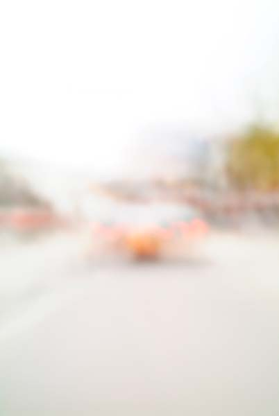 Convergent series, day, colour photograph, art, abstract, abstract expressionism, creative, city street, urban, downtown, cityscape, speed, blur, movement, motion, red, orange, muted, smear, shapes