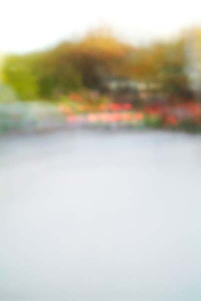 Convergent series, day, colour photograph, art, abstract, abstract expressionism, creative, city street, urban, downtown, cityscape, speed, blur, movement, motion, green, yellow, muted, smear, shape