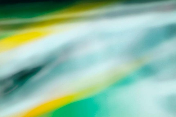 Light Signatures series, day, colour photograph, art, abstract, abstract expressionism, creative, city street, urban, downtown, cityscape, speed, blur, movement, motion, green, yellow, muted, helix, twirl, stripes, pattern