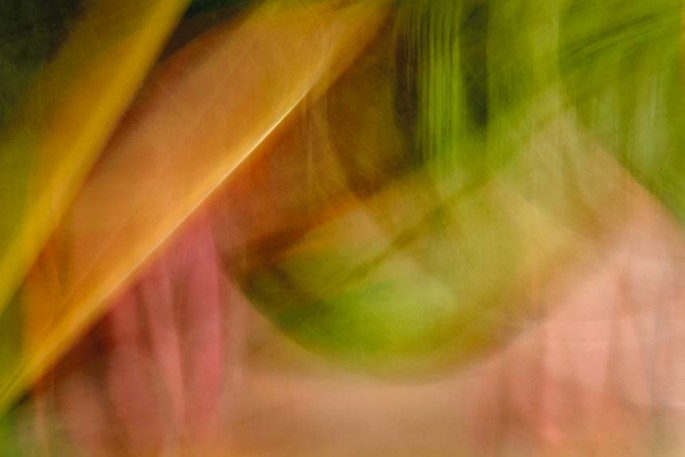 Light Signatures series, day, colour photograph, art, abstract, abstract expressionism, creative, city street, urban, downtown, cityscape, speed, blur, movement, motion, red, pink, green, orange, vibrant, swoops, streaks, drapes, pattern