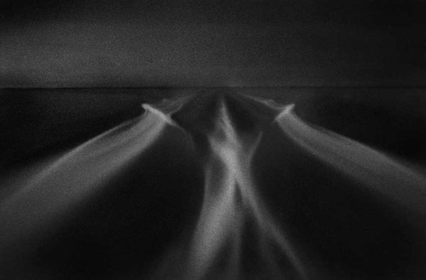 A Priori series, black and white photograph, art, abstract, abstract expressionism, creative, ocean, motion, blur, speed, pattern, streaks, wedge, converging