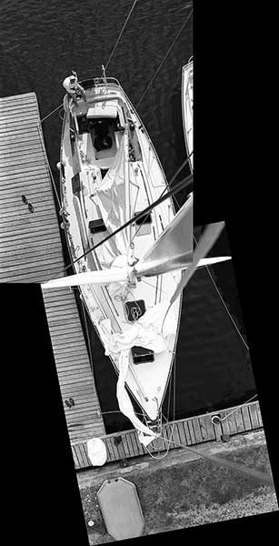 A Priori series, day, black and white photograph, art, creative, yacht, racing, dock, sails