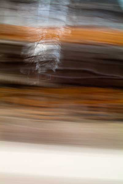 abstract expressionism, city street, urban, movement, motion, brown, orange, vibrant