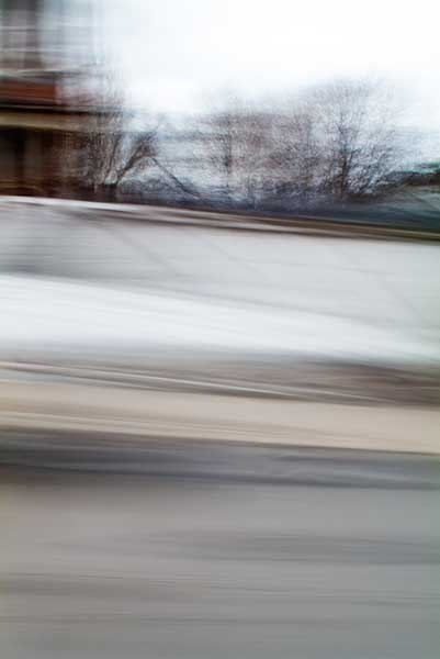 abstract expressionism, city street, urban, movement, motion, grey, mauve, brown, vibrant