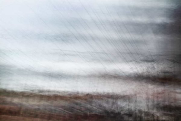 abstract expressionism, city street, urban, movement, motion, brown, mauve, blue, vibrant